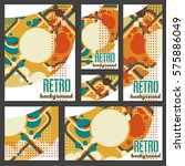 old retro vintage style... | Shutterstock .eps vector #575886049