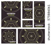 old retro geometry vintage... | Shutterstock .eps vector #575886061