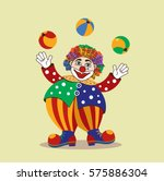 Circus Clown. Cartoon Vector...