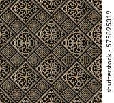 seamless pattern oriental... | Shutterstock .eps vector #575895319