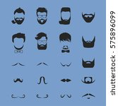 hipster hair and beards... | Shutterstock .eps vector #575896099