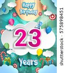 23 Years Birthday Design For...
