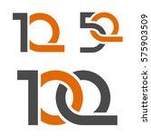 10 50 100 anniversary number... | Shutterstock .eps vector #575903509