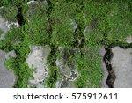 green grass and brick... | Shutterstock . vector #575912611
