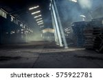warehouse with shafts of light... | Shutterstock . vector #575922781