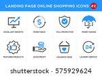 flat line design concept icons... | Shutterstock .eps vector #575929624