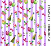 festive background with caps ... | Shutterstock .eps vector #575929885