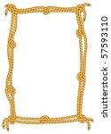 vector rope border | Shutterstock .eps vector #57593110