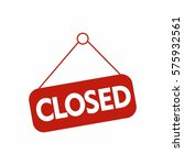 closed tag vector design... | Shutterstock .eps vector #575932561