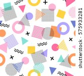 geometric seamless vector... | Shutterstock .eps vector #575933281
