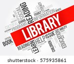 library word cloud collage ... | Shutterstock .eps vector #575935861