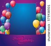 happy birthday background party ... | Shutterstock .eps vector #575938501