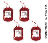 vector illustration blood bag... | Shutterstock .eps vector #575939545