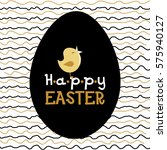 vector easter card with singing ... | Shutterstock .eps vector #575940127