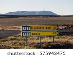 Small photo of Road sign in Icelandic highlands
