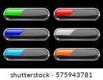 oval black buttons with colored ... | Shutterstock .eps vector #575943781