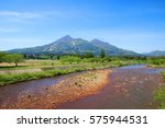 river and mountains in japan. | Shutterstock . vector #575944531