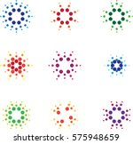 set of abstract logo icons | Shutterstock .eps vector #575948659