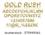 gold rush. gold alphabetic... | Shutterstock .eps vector #575949361