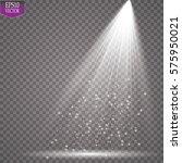 vector spotlights. scene. light ... | Shutterstock .eps vector #575950021