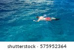 swimmer in the sea | Shutterstock . vector #575952364