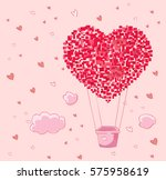 balloon heart | Shutterstock .eps vector #575958619