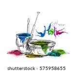 happy holi celebrations ... | Shutterstock .eps vector #575958655