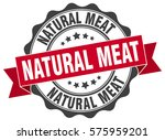 natural meat. stamp. sticker.... | Shutterstock .eps vector #575959201