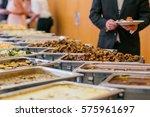 catering wedding buffet food... | Shutterstock . vector #575961697