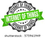 internet of things. stamp.... | Shutterstock .eps vector #575961949