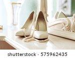 bridal women shoes. the concept ... | Shutterstock . vector #575962435