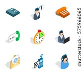 support service icons set.... | Shutterstock .eps vector #575966065
