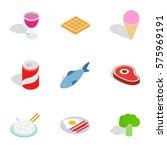dieting meal icons set....   Shutterstock .eps vector #575969191