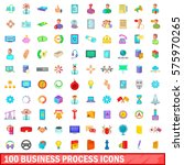 100 business process icons set...   Shutterstock .eps vector #575970265