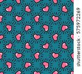 valentine's day seamless... | Shutterstock .eps vector #575972269