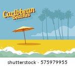 caribbean beaches | Shutterstock .eps vector #575979955