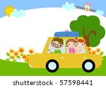 time for vacation | Shutterstock .eps vector #57598441