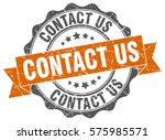 contact us. stamp. sticker.... | Shutterstock .eps vector #575985571