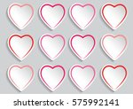 valentines day vector beautiful ... | Shutterstock .eps vector #575992141