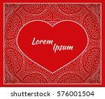 holiday  postcard  frame for... | Shutterstock .eps vector #576001504