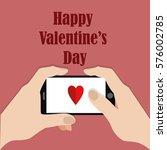 happy valentine's day. hands... | Shutterstock .eps vector #576002785