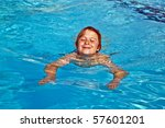 child has fun in the pool | Shutterstock . vector #57601201