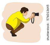 vector photographer character.... | Shutterstock .eps vector #576013645