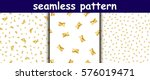 set of 3 seamless patterns with ...   Shutterstock .eps vector #576019471