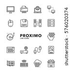 computers modern futuristic... | Shutterstock .eps vector #576020374