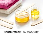 wax for depilation on white... | Shutterstock . vector #576020689