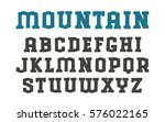 stencil serif font in the style ... | Shutterstock .eps vector #576022165