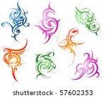 set of tribal art tattoo | Shutterstock .eps vector #57602353
