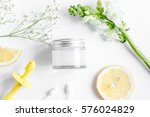 natural organic cosmetics for...   Shutterstock . vector #576024829