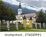 at stams abbey in tyrol  austria